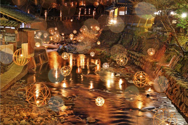 點燈的黑川溫泉